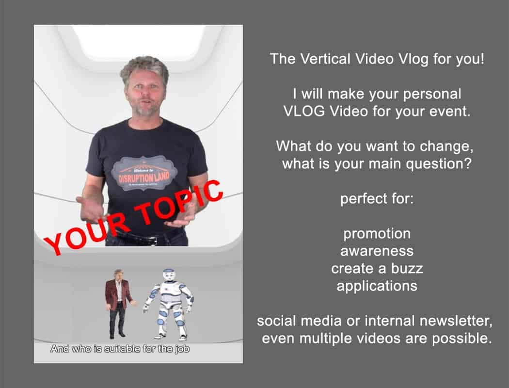 A personal Vlog by Tom Lightning is a great communication tool to engage your audience before an event